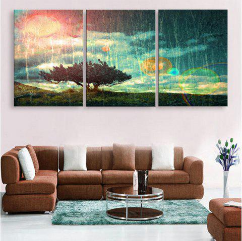 Special Design Frameless Paintings 3PCS - PINK / GREEN 20 X 14 INCH (50CM X 35CM)