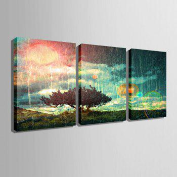 Special Design Frameless Paintings 3PCS - PINK / GREEN 9 X 13 INCH (24CM X 34CM)