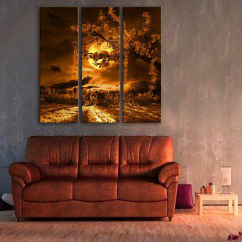 Special Design Frameless Paintings Beautiful Moonlight Pattern 3PCS - LIMEADE LIMEADE