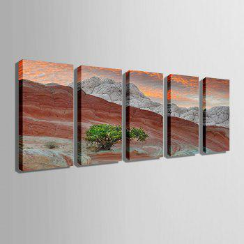 Special Design Frameless Paintings Pink Mountain Pattern 5PCS - PINK 12 X 35 INCH (30CM X 90CM)