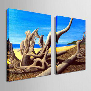 Special Design Frameless Paintings Dead Sea Pattern 2PCS - SEA BLUE 9 X 13 INCH (24CM X 34CM)