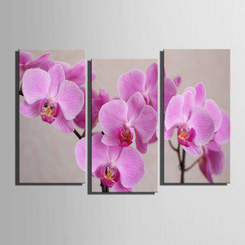 Special Design Frameless Paintings 	Purple Flowers Pattern 3PCS - PURPLE PURPLE