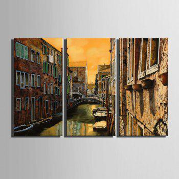 Special Design Frameless Paintings Watery City Pattern 3PCS - LIMEADE LIMEADE