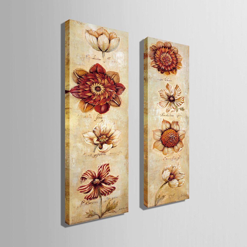 Special Design Frameless Paintings Abstract Flowers Pattern 2PCS - RED 9 X 28 INCH (24CM X 70CM)