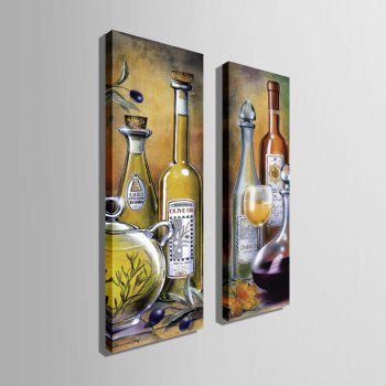 Special Design Frameless Paintings Wine Pattern 2PCS - LIGHT YELLOW LIGHT YELLOW