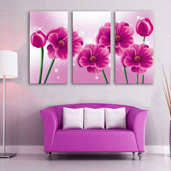 Special Design Frameless Paintings Pink memory 3PCS - PINK PINK