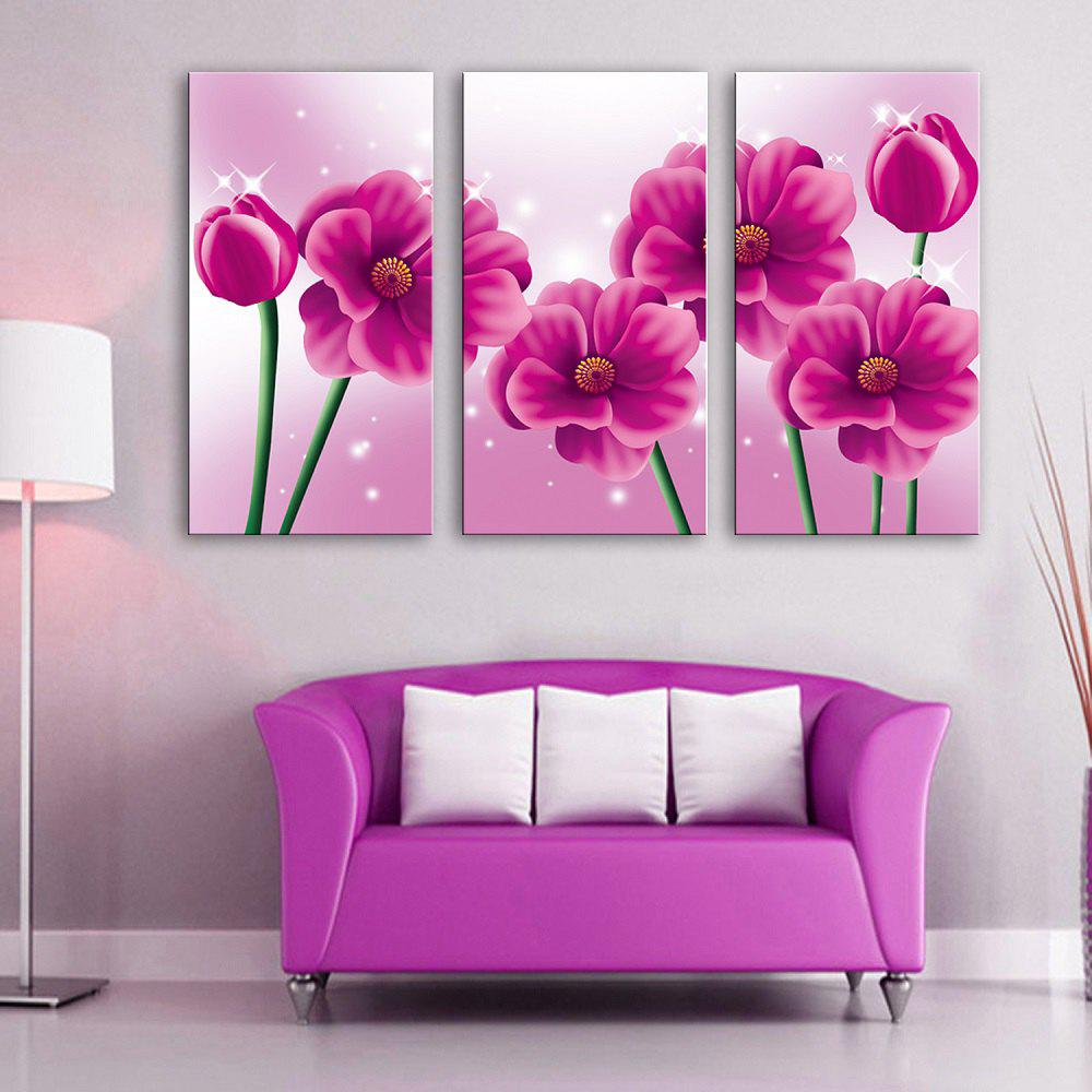 Special Design Frameless Paintings Pink memory 3PCS - PINK 12 X 35 INCH (30CM X 90CM)