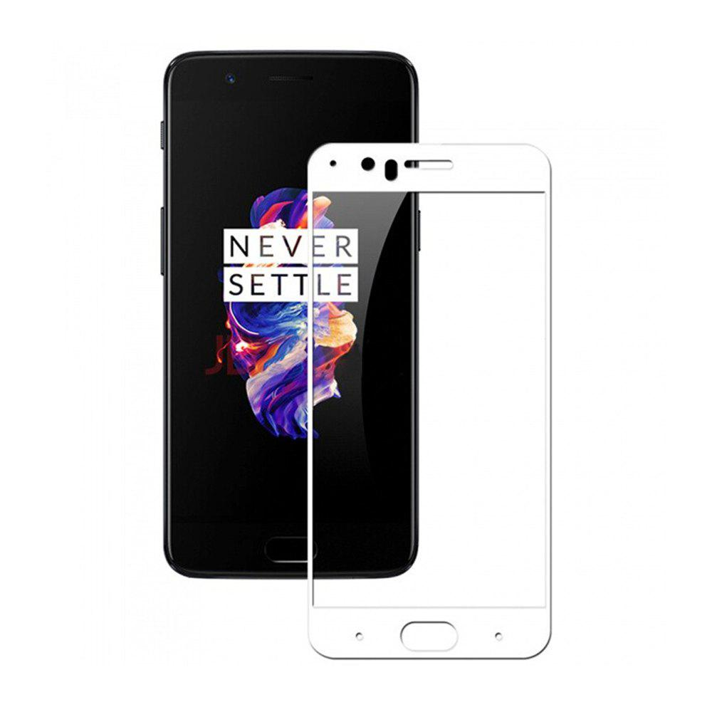 2.5D 9H Hardness Tempered Glass Full Cover Screen Film Protector for OnePlus 5 - WHITE