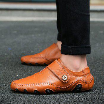 Autumn Men'S Casual Driving Shoes - BROWN 38