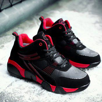 Autumn and Winter Students Couple Sports High Foreign Trade Code Fashion Casual Running Shoes - RED RED