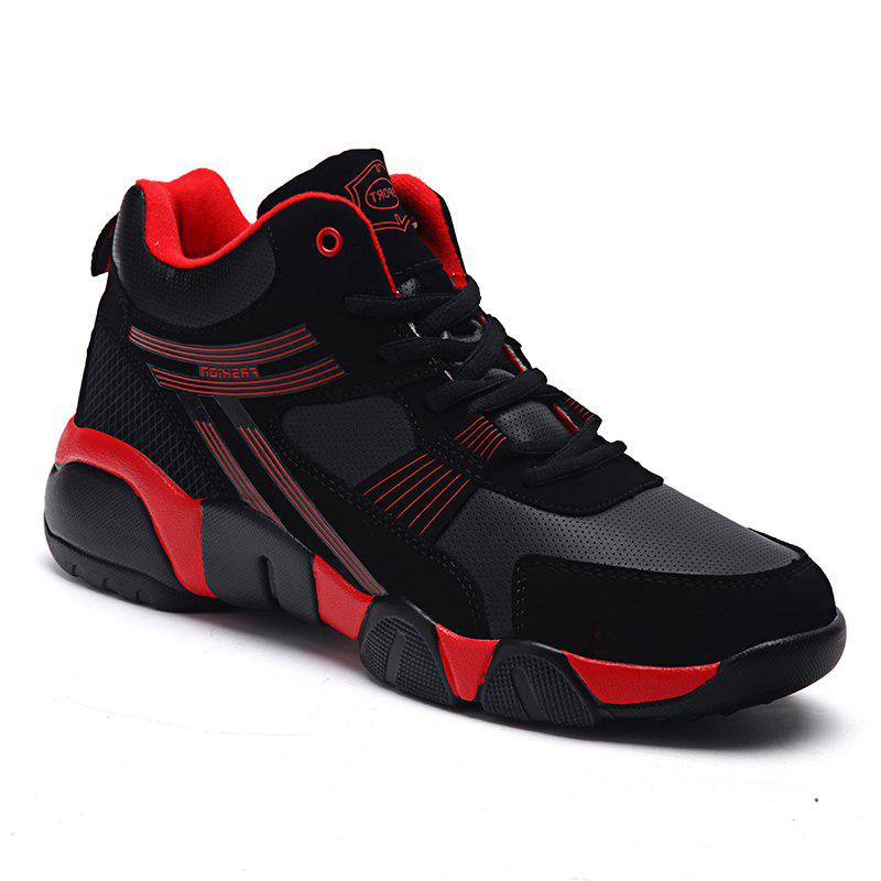 Autumn and Winter Students Couple Sports High Foreign Trade Code Fashion Casual Running Shoes - RED 36