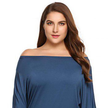 Add Fertilizer Women'S Solid Color T-Shirt with Long Sleeves - PEACOCK BLUE XL