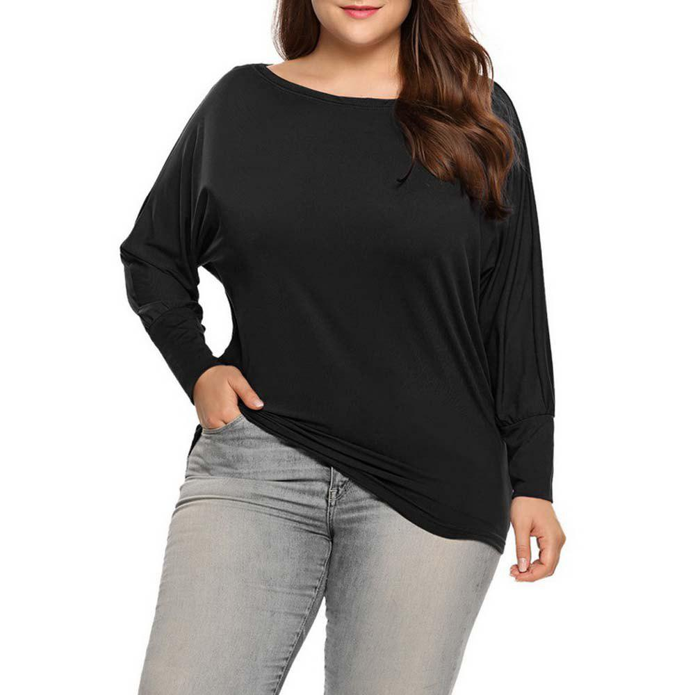 Add Fertilizer Women'S Solid Color T-Shirt with Long Sleeves - BLACK 3XL