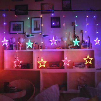2M Romantic Fairy Star Led Curtain String Light EU 220V Xmas Garland Light for Wedding Party Holiday Decor - COLORFUL COLORFUL