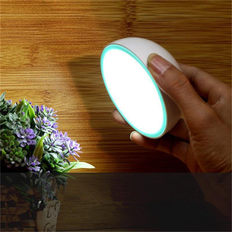 360 Degree Rotate Intelligent LED Night Light Human Body Sensor Lamp Magnetic Adsorption Corridor Wardrobe Wall Lamp - WHITE LIGHT