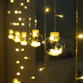 Wishing Balls LED Curtain Fairy Tale String Lights 220V Romantic Xmas Wedding Party Decoration Lights - WARM WHITE LIGHT