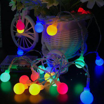 10M 100 LEDs Decorative String Light Round Ball Shaped Holiday Party Light - COLORFUL COLORFUL