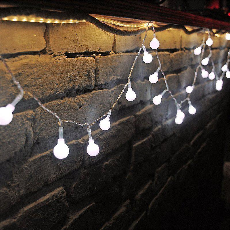 10M 100 LEDs Decorative String Light Round Ball Shaped Holiday Party Light - WHITE LIGHT