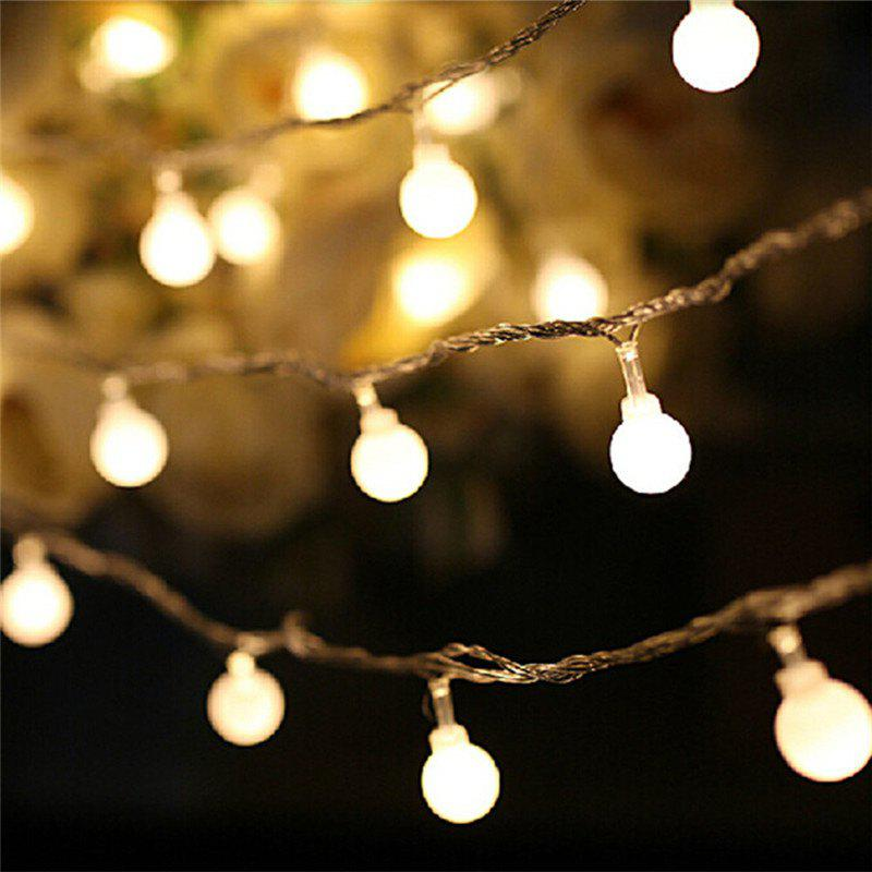 10M 100 LEDs Decorative String Light Round Ball Shaped Holiday Party Light - WARM WHITE LIGHT