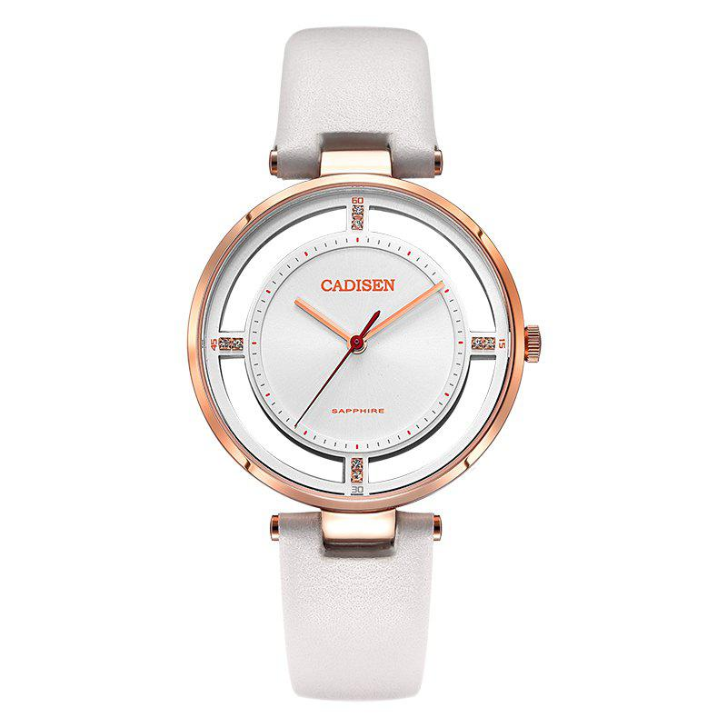 CADISEN C6140 Women Stainless Steel Band Quartz Wristwatch - WHITE