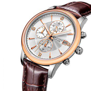CADISEN Men Luxury Brand Quartz Analog Sports Wrist Watch - ROSE GOLD/SILVER