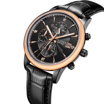 CADISEN Men Luxury Brand Quartz Analog Sports Wrist Watch - ROSE GOLD