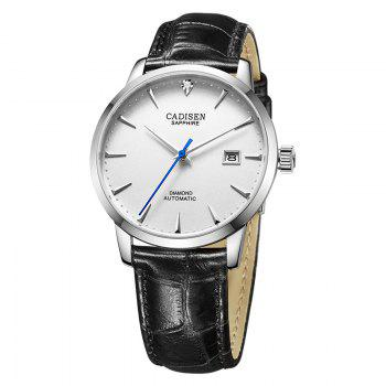 Cadisen C8097 Men Stainless Steel Brand Clock Automatic Watch - WHITE + SILVER WHITE / SILVER