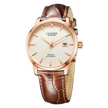 Cadisen C8097 Men Stainless Steel Brand Clock Automatic Watch - ROSE GOLD ROSE GOLD