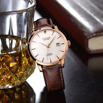 Cadisen C8097 Men Stainless Steel Brand Clock Automatic Watch - ROSE GOLD