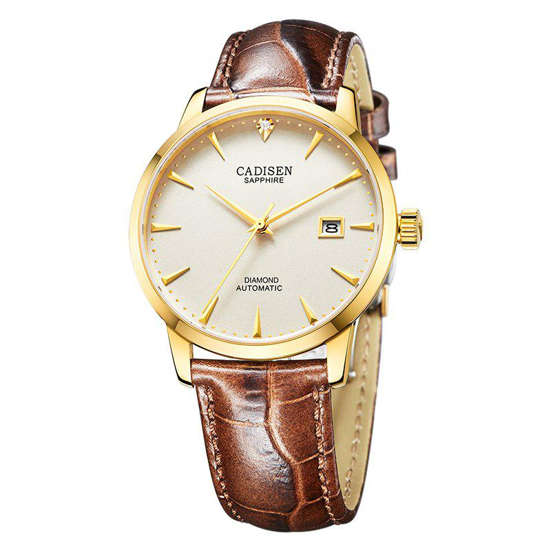 Cadisen C8097 Men Stainless Steel Brand Clock Automatic Watch - GOLDEN