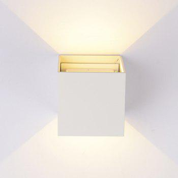 Indoor and Outdoor Waterproof Wall Lamp Garden and Corridor Light AC 85 - 265V - WHITE WHITE