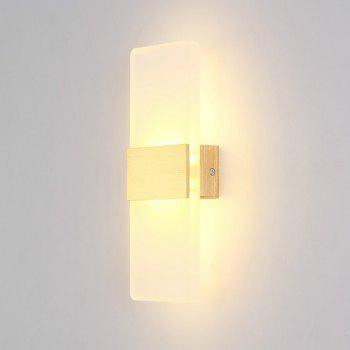 LED Fashion Creative Wall Light 6W Living Room Corridor Acrylic Lamps AC 85 - 265V -  SILVER