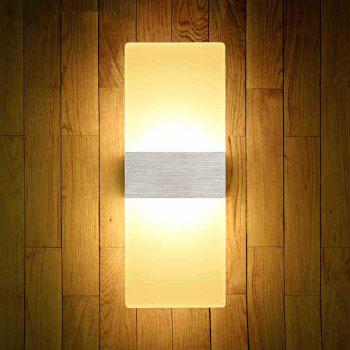 LED Fashion Creative Wall Light 6W Living Room Corridor Acrylic Lamps AC 85 - 265V - SILVER SILVER