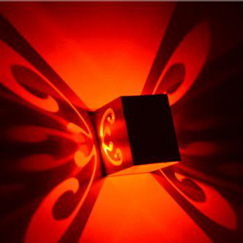Conceal Install Wall Lamp Decoration Stage Light Butterfly Pattern - RED RED