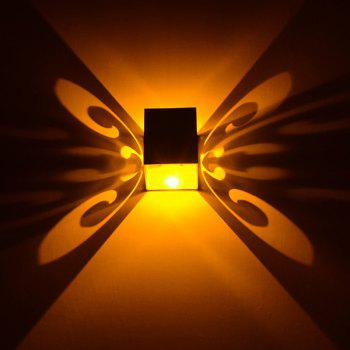 Conceal Install Wall Lamp Decoration Stage Light Butterfly Pattern -  YELLOW