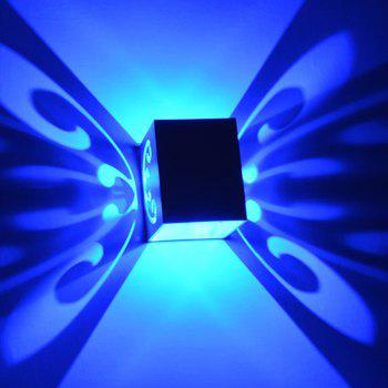 Conceal Install Wall Lamp Decoration Stage Light Butterfly Pattern - BLUE BLUE