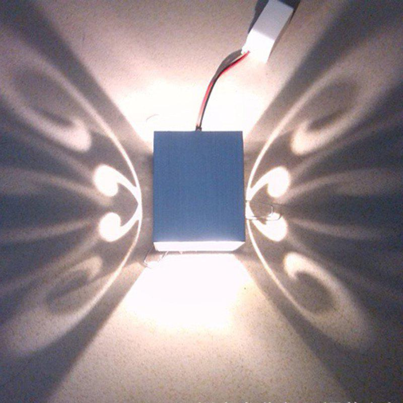 Conceal Install Wall Lamp Decoration Stage Light Butterfly Pattern - WHITE