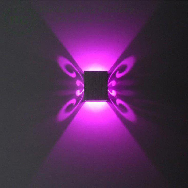Conceal Install Wall Lamp Decoration Stage Light Butterfly Pattern - PURPLE