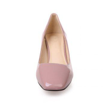 Women's Heels Spring Summer Formal Shoes Patent Leather Dress Chunky Heel - PINK 38