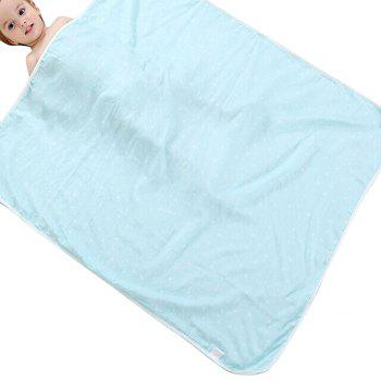 Bamboo Fiber Four Layer Active Printing Neonatal Blanket - BLUE BLUE