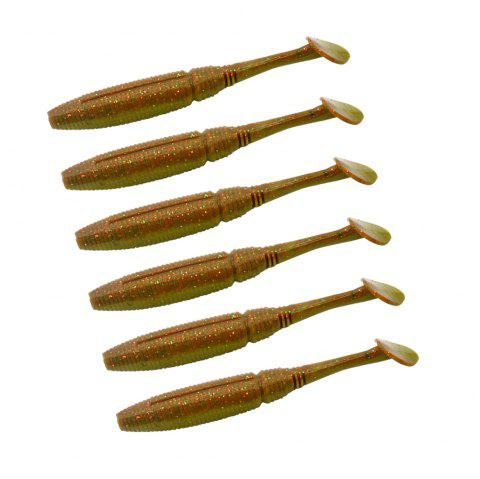 HONOREAL High Quality 7.5cm Shrimp Flavour and UV Soft Fishing Lure 6PCS - COPPER COLOR