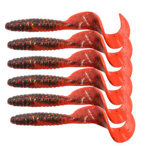 HONOREAL 6.5CM Bass Lure for Deep and Shallow Water Fishing Baits 6PCS - RED