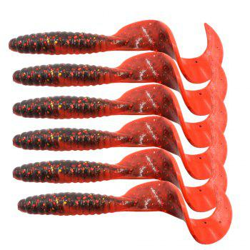 HONOREAL 6.5CM Bass Lure for Deep and Shallow Water Fishing Baits 6PCS - RED RED