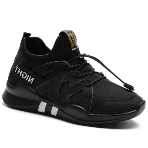 Fashion Leisure Folding Soft Breathable and Comfortable Sports Shoes - BLACK 35
