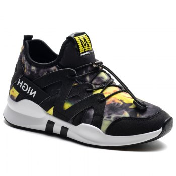 Fashion Leisure Folding Soft Breathable and Comfortable Sports Shoes - YELLOW YELLOW