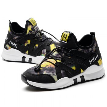 Fashion Leisure Folding Soft Breathable and Comfortable Sports Shoes - YELLOW 40