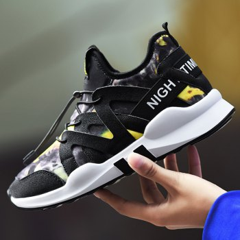 Fashion Leisure Folding Soft Breathable and Comfortable Sports Shoes - YELLOW 37