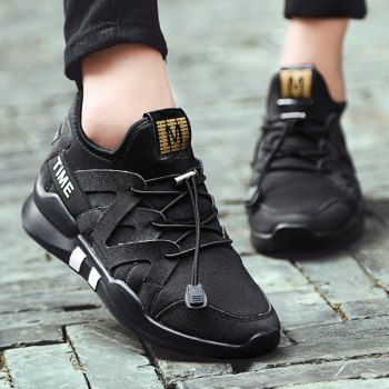 Fashion Leisure Folding Soft Breathable and Comfortable Sports Shoes - BLACK BLACK