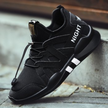 Fashion Leisure Folding Soft Breathable and Comfortable Sports Shoes - BLACK 38