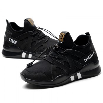 Fashion Leisure Folding Soft Breathable and Comfortable Sports Shoes - BLACK 36